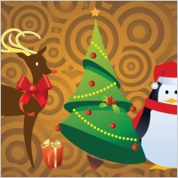 Link toFree christmas character vectors