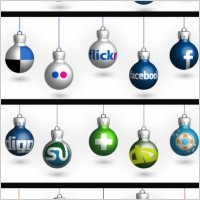 Link toFree christmas social icons