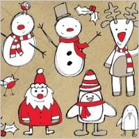 Link toFree christmas themed sketchy vector graphics pack
