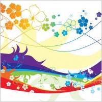 Link toFree colorful flower vector illustration