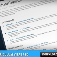 Link toFree curriculum vitae - resume psd