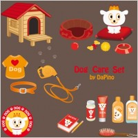 Link toFree dog care vector
