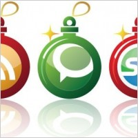 Link toFree early christmas social networking vector icons