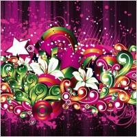Link toFree floral design vector background
