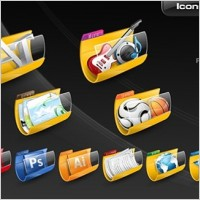 Link toFree folder icon set icons pack