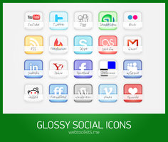 Link toFree glossy social icons