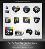 Link toFree google plus icons set
