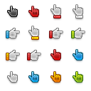 Free hand pointer icons