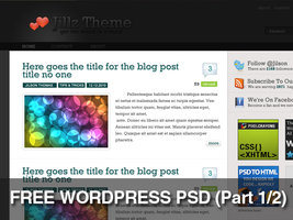 Link toFree jillz wordpress theme psd