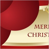 Link toFree merry christmas vector card