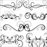 Link toFree ornate vector swirls