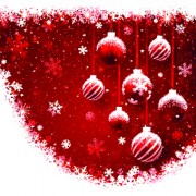 Link toFree red christmas elements background vector set 05