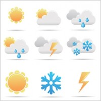 Link toFree simple vector weather icon
