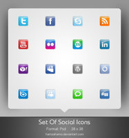 Link toFree social icons set