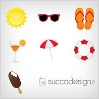 Link toFree summer icon vector set