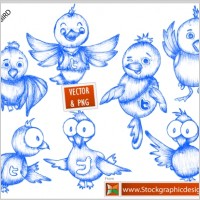 Link toFree twitter bird icons vector