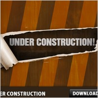 Link toFree under construction psd