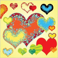 Link toFree valentine hearts vectors