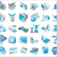 Link toFree vector blue icons