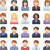 Link toFree vector business people icons