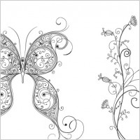 Link toFree vector butterfly and flower