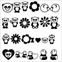 Link toFree vector cartoon pandas