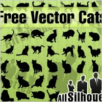 Link toFree vector cats