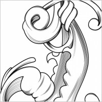 Link toFree vector engraved flower