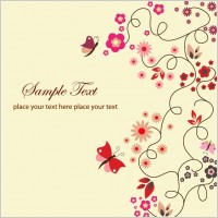 Link toFree vector floral greeting card