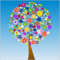 Link toFree vector flower tree