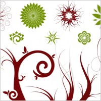 Link toFree vector flowers and swirls