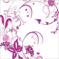 Link toFree vector graphic  purple swirls and flowers