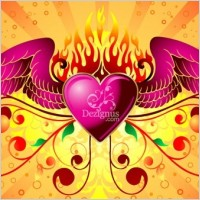 Link toFree vector graphic  winged heart