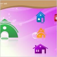 Link toFree vector home icons