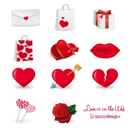 Link toFree vector icon set for valentine's day