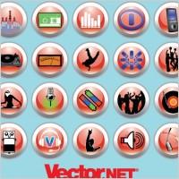 Link toFree vector music & nightlife icon set