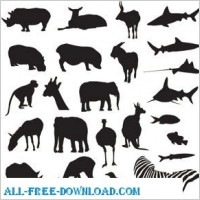 Link toFree vector pack safari and zoo animals spoon
