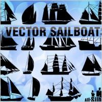 Link toFree vector sailboats
