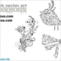 Link toFree vector samples floral 77  birds 5  christmas 10