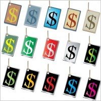 Link toFree vectors of money sign tags