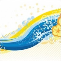 Link toFree wave curve floral vector graphic