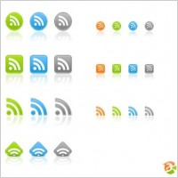 Link toFree web 2.0 rss icons icons pack