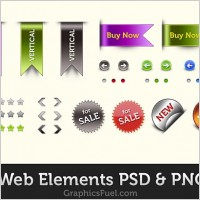 Link toFree web elements psd pack