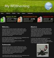 Link toFree web hosting template