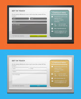 Link toFreebie: 2 custom contact forms psd template