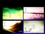 Link toFreehand brushwork landscape business cards psd