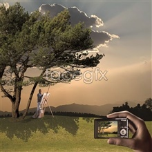 Link toFreehand digital camera ad design psd