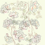 Link toFreehand line drawing of flowers vector