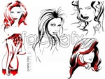 Link toFreehand sketching beautiful women like vector