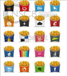 Link toFrench fry logo design icons